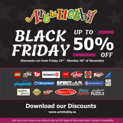 The Art & Hobby Shop Black Friday event - Social Media