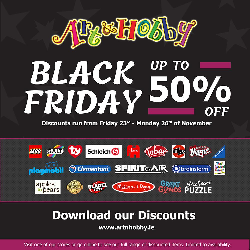 The Art & Hobby Shop Black Friday event - Social Media