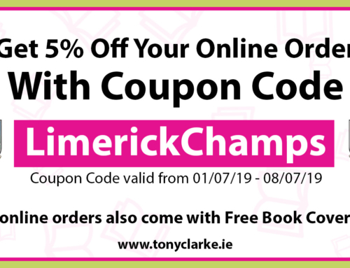 Tony Clarke School Books – Limerick Champs Coupon