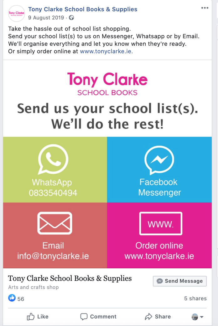 Tony Clarke School Book ordering