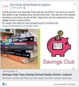 Tony Clarke School Books Savings Club